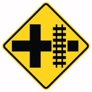 Highway Raid Transit Right Xing Sign