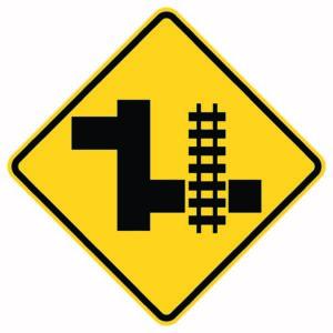 Advanced Railroad Warning Right Xing Sign