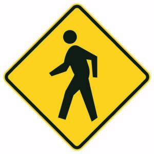 Pedestrian Symbol Crossing Xing Sign