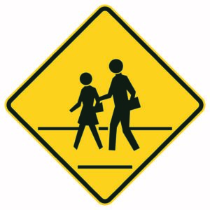 Pedestrian Crossing Xing Sign