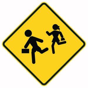 School Kids Xing Sign