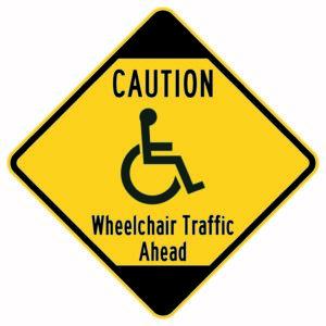 Caution Wheelchair Traffic Ahead Xing Sign