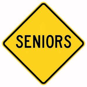 Seniors Xing Sign