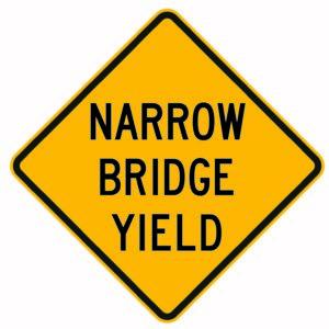 Narrow Bridge Yield Sign