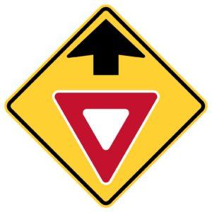 Yield Ahead Sign