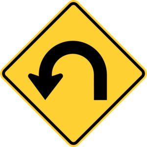 Hairpin Curve Left Sign