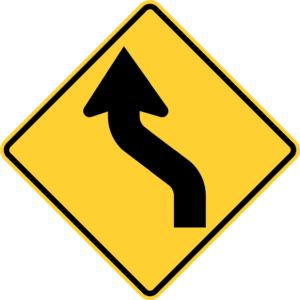 Left Reverse Curve Sign