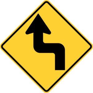 Left Reverse Turn Sign