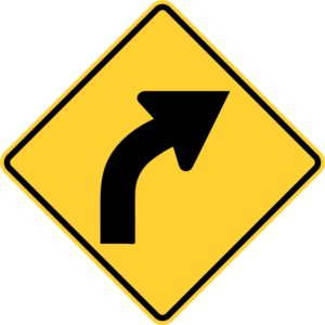 Right Curve Sign