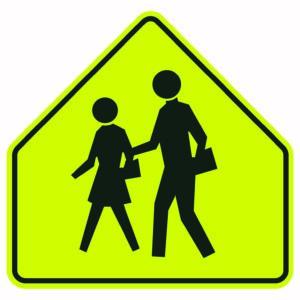 School Crossing Symbols Sign