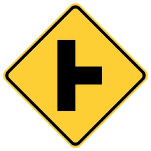 Side Road Right Sign