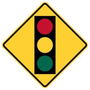 Traffic Light Ahead Symbol Sign