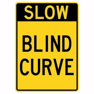 Slow Blind Curve Sign