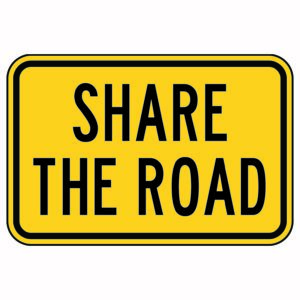 Share the Road Rectangle Sign
