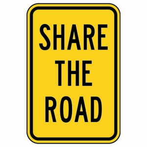 Share the Road Square Sign