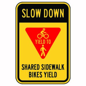 Slow Down Yield to Bikes