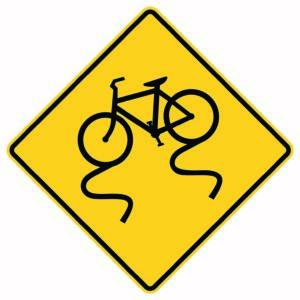 Bike Slippery Sign