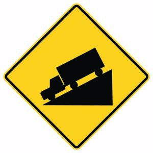 Truck Slope Sign