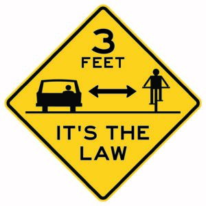 3ft It's the Law Sign