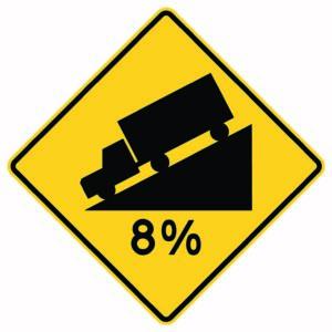 8% Grade Sign