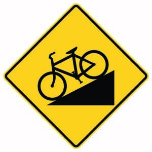 Bike Slope Sign