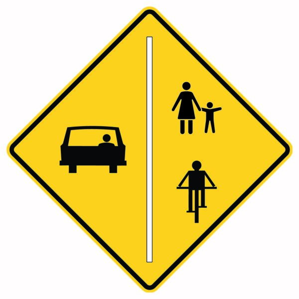 Share the Road Symbols Sign