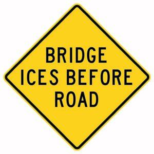 Bridge Ices Before Road Sign