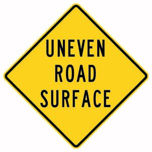 Uneven Road Surface Sign