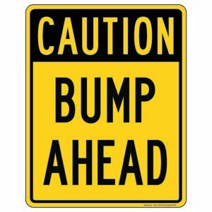 Caution Bump Ahead Sign