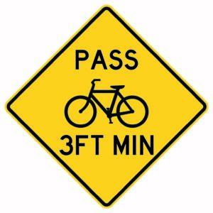 Pass 3ft Min Bike Sign