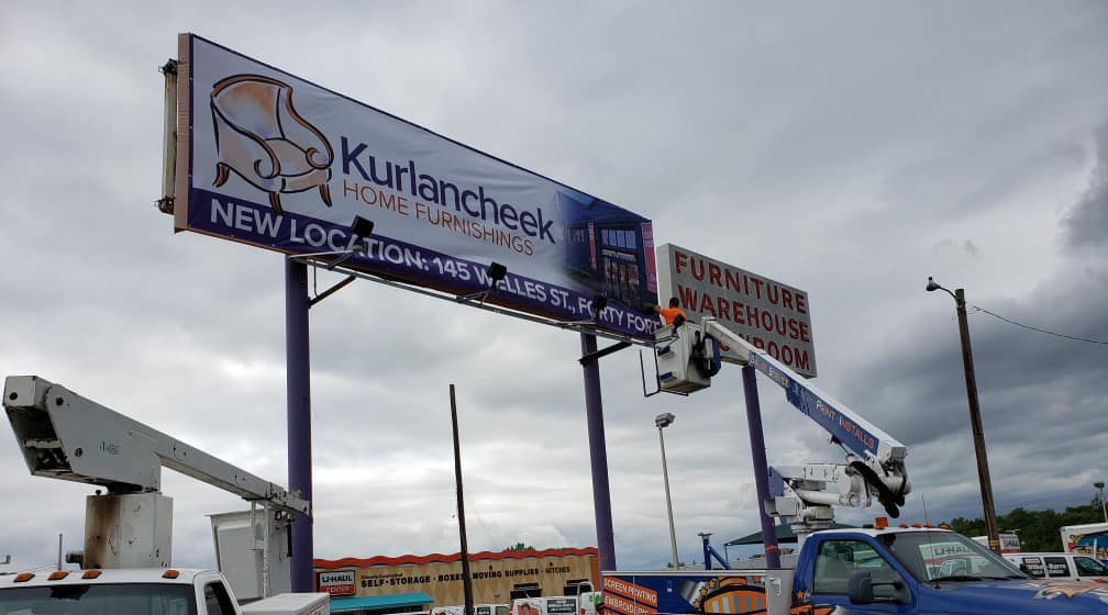 Sign Installation Example