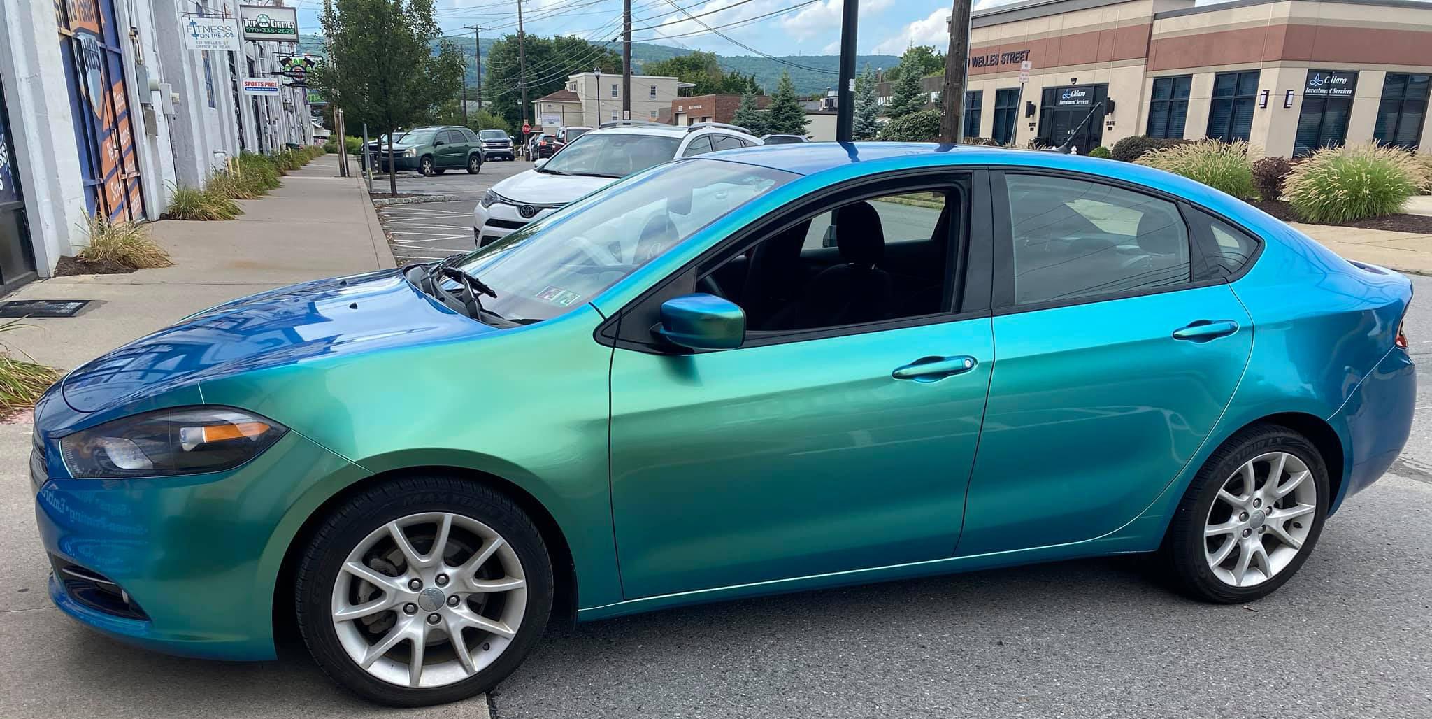 Vehicle Wrap Example Aqua Car
